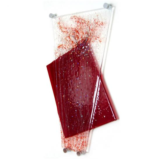 Glass panel red web3